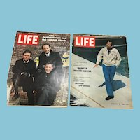 1969 Two Life Magazines: Nixon, Ghana, Movie Stars