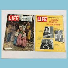 1969 Life Magazines - Youth Communes, High School, Appollo 10