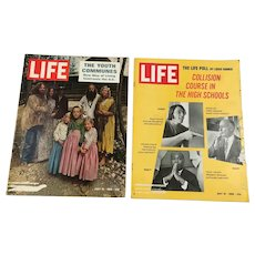 1969 Life Magazines - Youth Communes, High School, Appollo 10