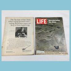 1969 Life Magazines - Appollo, Barnstorming the Moon, Greek Fashion
