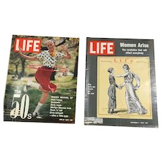 Two Early 1970s Life Magazines - Vote for Women, 1950s