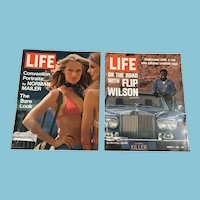 Two 1972 Life Magazines: Flip Wilson, Norman Mailer