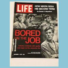 Two Early 1970s Life Magazines - Nixon, Job Apathy, Kennedys, LBJ