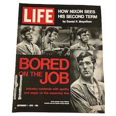Two Early 1970s Life Magazines - Nixon, Job Apathy, Kennedys, LBJ