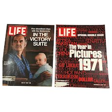 Two Early 1970s Life Magazines - 1971 in Pictures, McGoverns
