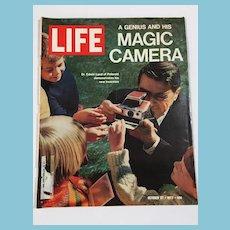October 27, 1972 Life Magazine:Invention of the Polaroid Camera
