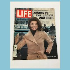 March 31, 1972, Life Magazine: Jackie vs The Jackie Watcher