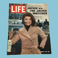 March 31, 1972, Life Magazine: Jackie vs The Jackie Watcher