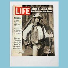 January 28, 1972 Life Magazine: John Wayne, Mugging, Elephant