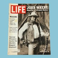 January 28, 1972 Life Magazine: John Wayne, Mugging, Elephant
