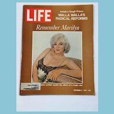 September 8, 1972 Life Magazine: Remember Marilyn: Walla Wallas