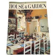 April 1986 Full Color Conde Nast House and Garden Magazine