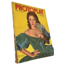 September 1952 Full Color Photoplay Magazine Featuring Elizabeth Taylor