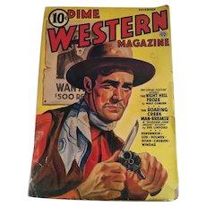 Rare November, 1941 Pulp Fiction 'Dime Western Magazine'