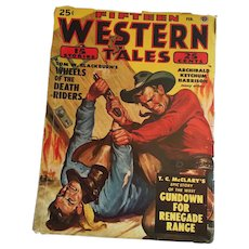 February, 1949 'Fifteen Western Tales' Pulp Magazine