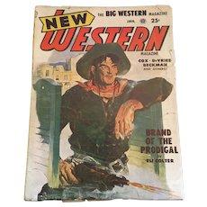January, 1952 Pulp Fiction 'New Western Magazine'