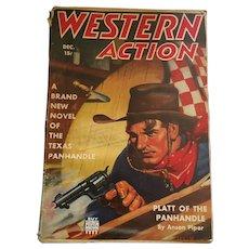 December, 1942 'Western Action' Pulp Fiction Magazine