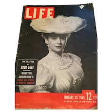 January 28, 1946 'Life' magazine Featuring Winston Churchill's Secret War speech