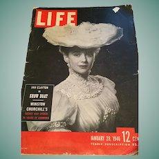 January 28, 1946 'Life' magazine Featuring Winston Churchill's Secret War speech
