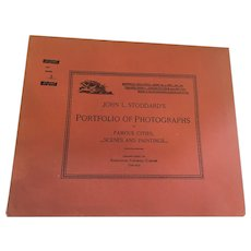 Sept. 29, 1893 John L. Stoddard's Portfolio of Photographs of Famous Cities, Scenes and Paintings
