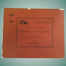 October 6, 1893, John L. Stoddard's Portfolio of Photographs of Famous Cities, Scenes and Paintings
