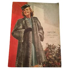 1945-46  Simpson's Department Store Fall and Winter Catalogue