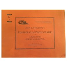 October 13, 1893, John L. Stoddard's Portfolio of Photographs of Famous Cities, Scenes and Paintings