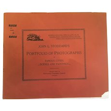 November 10, 1893, John L. Stoddard's Portfolio of Photographs of Famous Cities, Scenes and Paintings