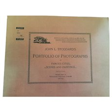 Dec. 15, 1893, John L. Stoddard's Portfolio of Photographs of Famous Cities, Scenes and Paintings