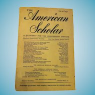 1946 'The American Scholar' Soft Cover Phi Beta Kappa Compendium