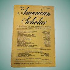 1946 'The American Scholar' Soft Cover Phi Beta Kappa Compendium