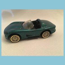 1992 diecast Hot Wheels Dodge Viper Green Convertible Car