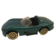 1992 diecast Hot Wheels Dodge Viper Green Convertible Car