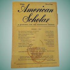 1947 'The American Scholar' Phi Beta Kappa Compendium