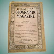 1921 'The National Geographic Magazine'