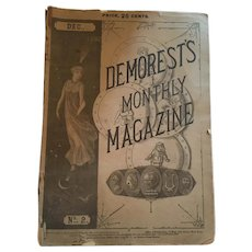 December, 1882, Demorest's Monthly Magazine with Fashion and Etchings