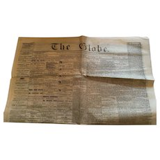 November 5, 1864 'The Globe' newspaper, Toronto, Canada West