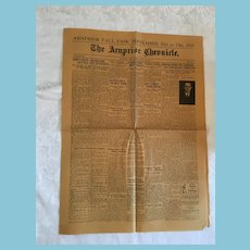 August, 30, 1929 'The Arnprior Chronicle' Newspaper