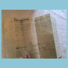 September 16, 1867 Women's Rights Parchment Contract
