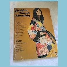 November 1972 'Golden Hands Monthly' Magazine with Patterns