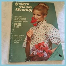 December 1972 'Golden Hands Monthly' Magazine and Patterns