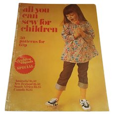 1972 ''All you can Sew for Your Children' Golden Hands Magazine