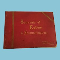Circa 1900 'Souvenir of Egham & Neighbourhood' Photo Book
