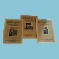 1920s Group of Three 'Kodakery' Amateur Photographers' Magazines