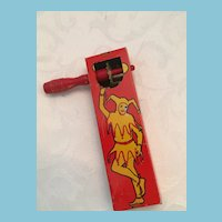 1928 Kirchhof Red and Yellow Jester Tin Noise Maker