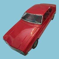 Rare Large 1960s Bright Red Aoshin Ford Capri Tin Car