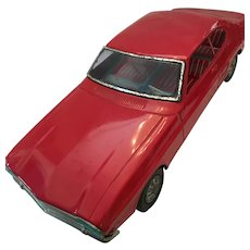 Rare Large 1960s Bright Red Aoshin Ford Capri Tin Car