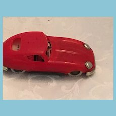 Circa 1960s Toy Red Plastic and Metal Litho 911 Porsche