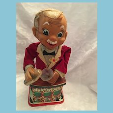 Non-functioning 1950's Rosko Bartender Battery Operated Tin Toy