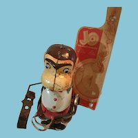 Jocko the Drinking Monkey Battery Operated Litho Tin Toy